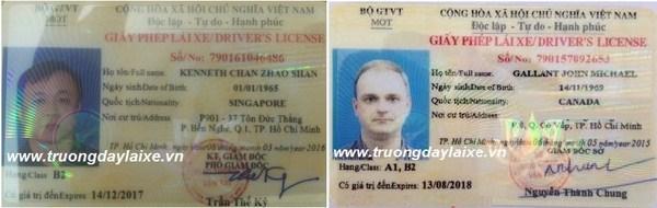 phí đổi bằng lái xe cho người nước ngoài